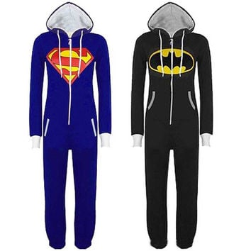 New Batman Superman Pajamas Cartoon Jumpsuit [6259294596]