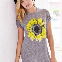 Truly Madly Deeply Sunflower Triblend Tee- Grey
