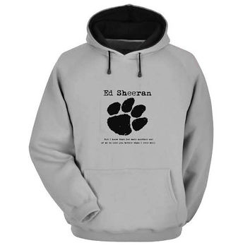 ed sheeran Hoodie Sweatshirt Sweater Shirt Gray and beauty variant color for Unisex size