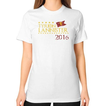 TYRION LANNISTER Unisex T-Shirt (on woman)