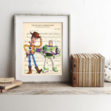 Toy Story Sheet Music Art Print