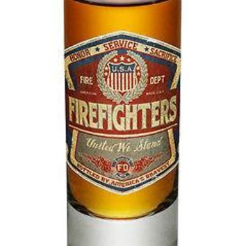 "FIREFIGHTER TRIBUTE - ""HONOR, SERVICE, SACRIFICE""- NEW-  2 OZ. SHOT GLASS"