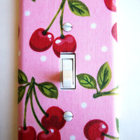 Pink Cherry Single Toggle Switchplate Switch Plate