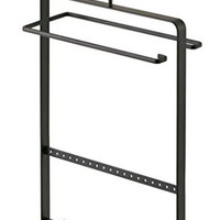 "Accessories & Jewelry Closet Hanging Organizer Rack in Black Finish - 14""H"