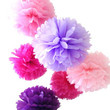 7 Mixed Large Sized Tissue Paper Pom Pom Ready To Ship Package | Shades of Pink & Purple | Wedding Party Decor