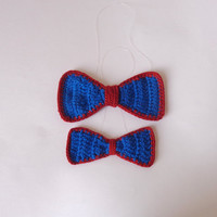 Crochet Bow Tie For Boys or Men -  Newborn Baby Teen Adult Choose Your Size