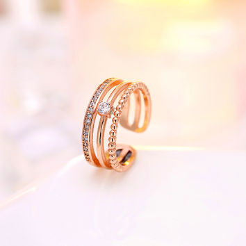 Jewelry Shiny New Arrival Gift Korean Stylish Simple Design 925 Silver Ring [7652917639]