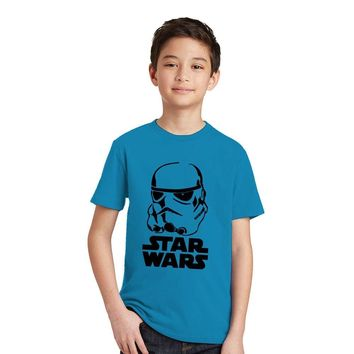 Star Wars Force Episode 1 2 3 4 5 3-10Y Boys T-shirt  Kids Tshirt Black Knight Darth Vader Stormtrooper Pattern Cotton Boys Clothes Children T Shirts AT_72_6