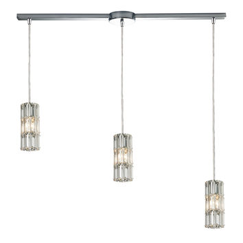 ELK Cynthia Collection 3 light chandelier in Polished Chrome - 31486/3L