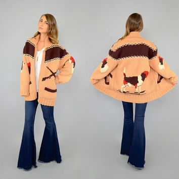 50's HOUND DOG Cowichan Sweater Jacket