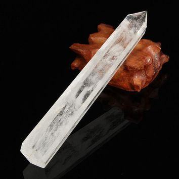 Best Price Large Natural Transparent Natural Clear Quartz Crystal Wands Reiki Healing Gemstone Wands Home Decor DIY Crafts Gift