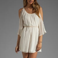 Akiko Open Shoulder Dress in Marshmallow from REVOLVEclothing.com