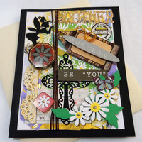 Mixed Media Cards - Brother Birthday - Birthday Cards - Mixed Media Greeting Cards - Cards all occasions - Unique cards
