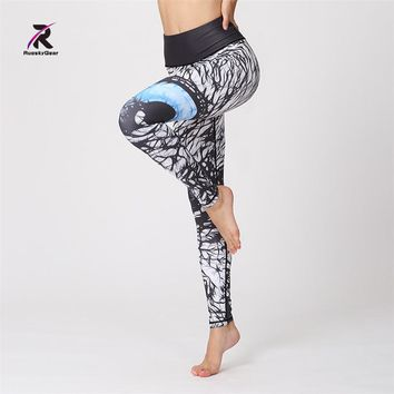 2018 Fitness Women Yoga Legging Activewear Pants High Waist Mesh Tights Sports Athletic Gym Running Workout Bottom Sportswear