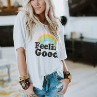 Feelin' Good Rainbow Graphic Tee