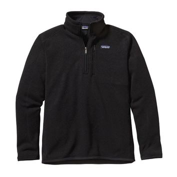 Patagonia Men's Better Sweater® Quarter Zip Fleece | Black