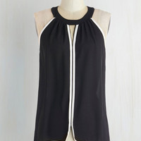 Mid-length Sleeveless Chic for Yourself Top