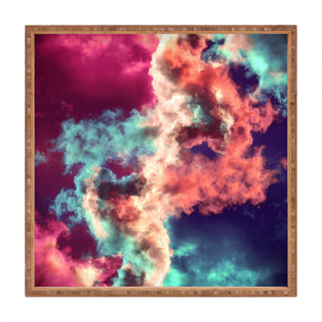 Caleb Troy Yin Yang Painted Clouds Square Tray