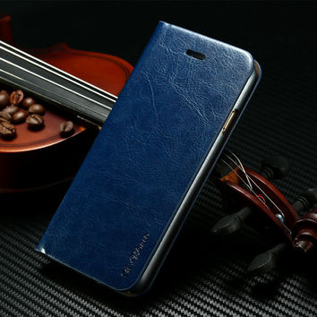 Leather Flip Case for iPhone 6 iphone 6 Plus Phone Cases with Wallet & Stand Function