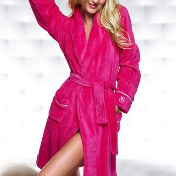Cozy Short Fleece Robe