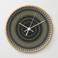 Silver Gold and Bronze Metal Mandala Wall Clock by Sheila Wenzel