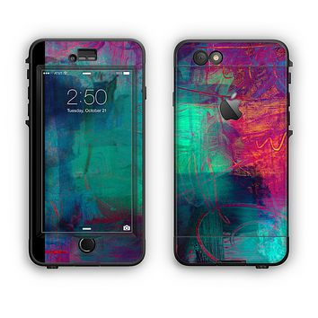 The Abstract Oil Painting V3 Apple iPhone 6 Plus LifeProof Nuud Case Skin Set