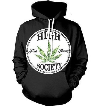 High Society - 4:20 Club - Classy CannaHoodies