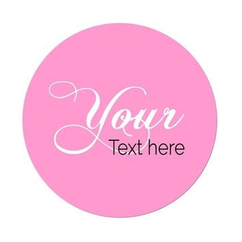 Die Cut Personalized Vinyl Stickers Custom Made Any Name, Your Text or Logo Here