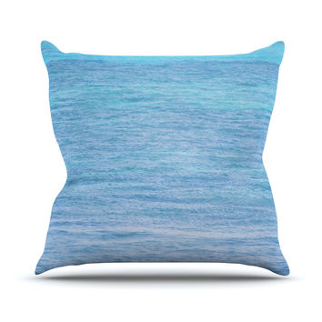 """Catherine McDonald """"South Pacific II"""" Ocean Water Throw Pillow"""