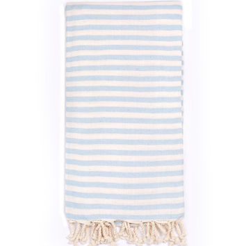 Turkish-T - Beach Candy Towel / Light Blue