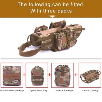 New Outdoor army tactical dog lost clothes suit vest with accessory kit Police dogs.