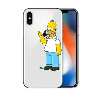 The Simpson TPU Soft Case for iPhone 5 5S SE 6 6S Plus 7 8 Plus X Funny Fundas Silicon Transparent High quality Coque Cover