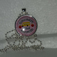 "World's Best School Bus Driver 1"" Pendant Necklace free shipping bus driver necklace"