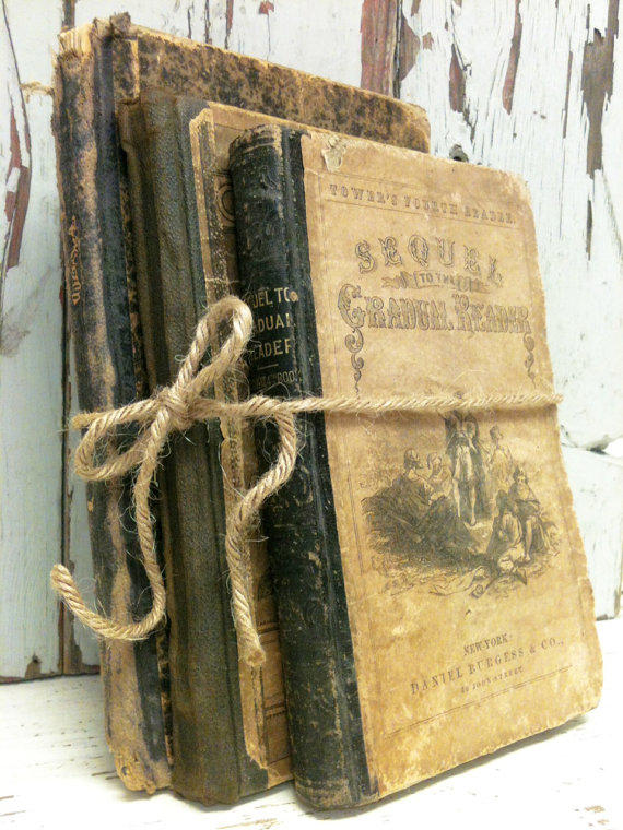 Old Books,1800s,Antique Hymn Book,German Book,Shabby Chic Books,Ephemera,Interior Design,Photo Prop,Vintage School Books,Interior Design