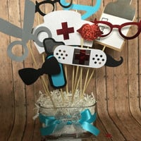 NURSE table center piece for parties,  nurse party decorations