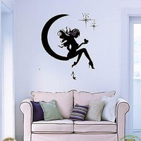 Wall Stickers Vinyl Decal Fairy Beautiful Sexy Girl Love Stars Unique Gift z1082