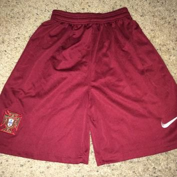 Sale!! Vintage Nike PORTUGAL Soccer Shorts Football Jersey Shirt