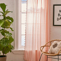 Malou Embroidered Stripes Curtain - Urban Outfitters