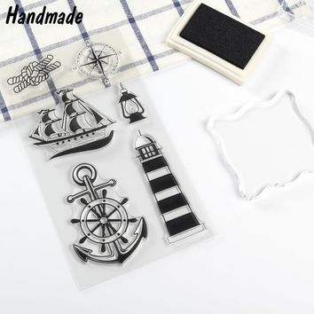Navy Sailing Transparent Ncraft Clear Rubber Stamp Standard Seal Paper Scrapbooking DIY Photo Album Cards Decoration Projects