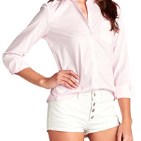 TheLovely Women Long Sleeve Button Down Shirt Blouse