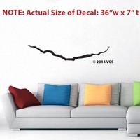 """LARGE """"Crack in the Universe"""" BLACK Wall Décor Sticker Die Cut Vinyl Decal - Doctor Who - FREE """"Whovian"""" ORNAMENT + 3 BONUS SMALL DECALS!"""