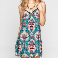 Chloe K Tie Back Slip Dress Multi  In Sizes