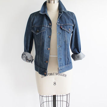 Vintage 70s Unisex Levi's USA Made Denim Jacket | medium