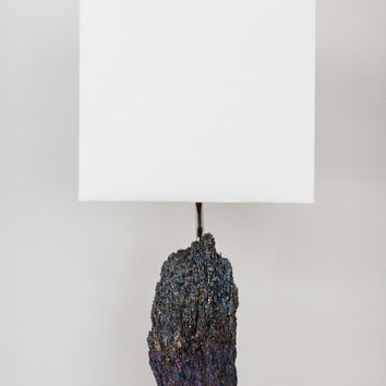 Silicon Carbide Table Lamp // Designer Mineral Specimen Table Lamp (L3)