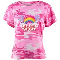 Death Metal Rainbow Juniors T Shirt