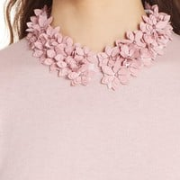 Ted Baker London Nansea Floral Collar Tiered Hem Sweater | Nordstrom