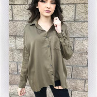 CAIRO BUTTON UP- OLIVE