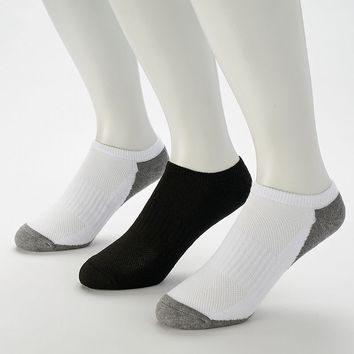 Tek Gear 3-Pack No-Show Performance Socks with Water Bottle - Men, Size: 10-13 (White Gray)