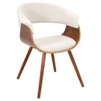 Vintage Mod Chair Walnut, Cream