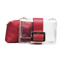 Transparent Bags Women Box Waterproof Lady Messenger Handbags Shoulder Bags